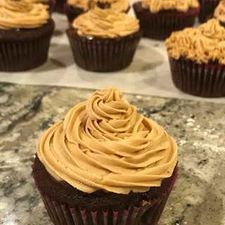 Mocha Cupcakes Dipped in a Coat of Dark Chocolate Ganache
