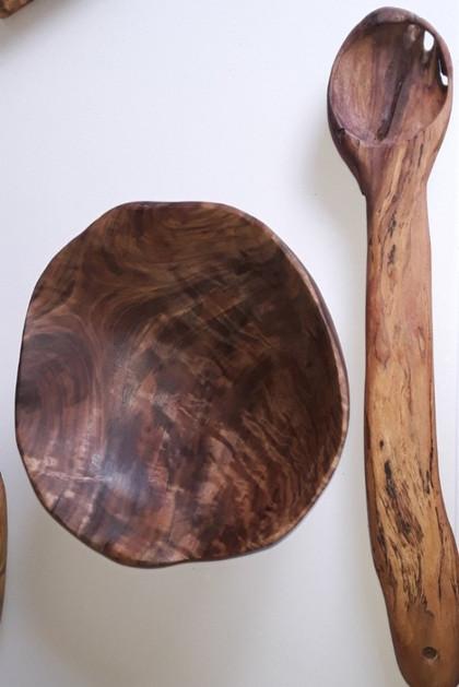 Black Walnut Bowl & Sycamore Spoon