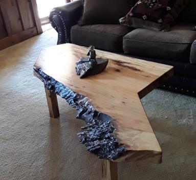 Live Edge Pecan Coffee Table