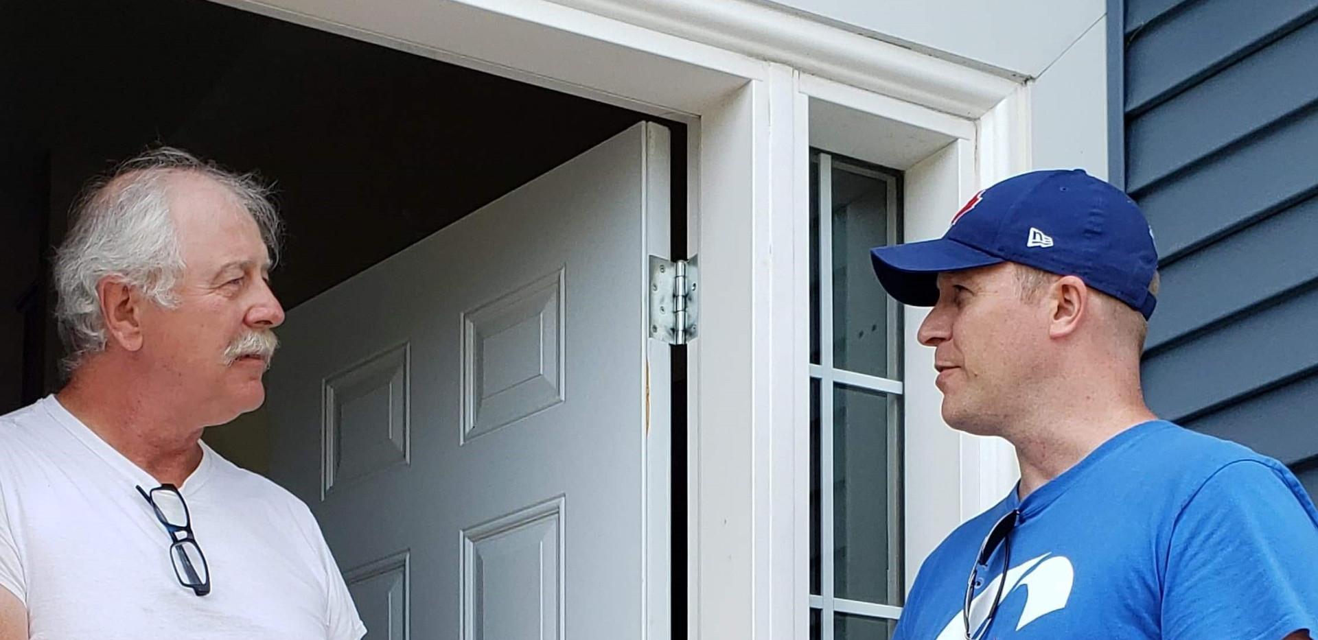 Conversation on the door.jpg