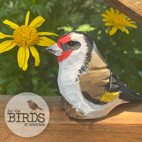 Hand Crafted Mini Euro Goldfinch Figurine