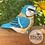 Thumbnail: Hand Crafted Mini Blue Jay Figurine