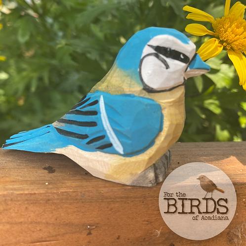 Hand Crafted Mini Blue Jay Figurine