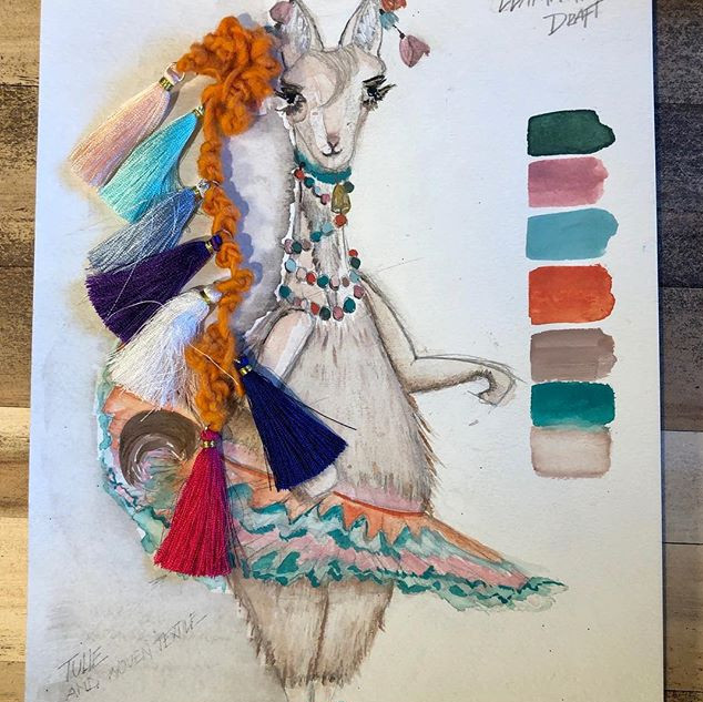 Mints and Mills ✨ Lama sketch, color pal