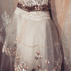 """Detail of """"A pretty dress for a delightf"""