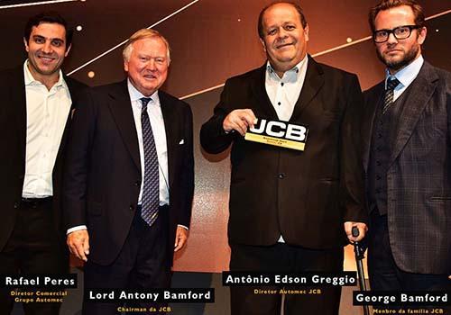 Automec recebe prêmio em conferência global da JCB