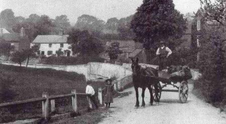 Horse and cart on Main Sreet bridge
