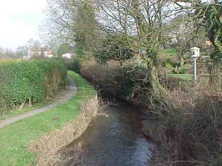 The Brook - formerly navigable by farm vehicles and animals