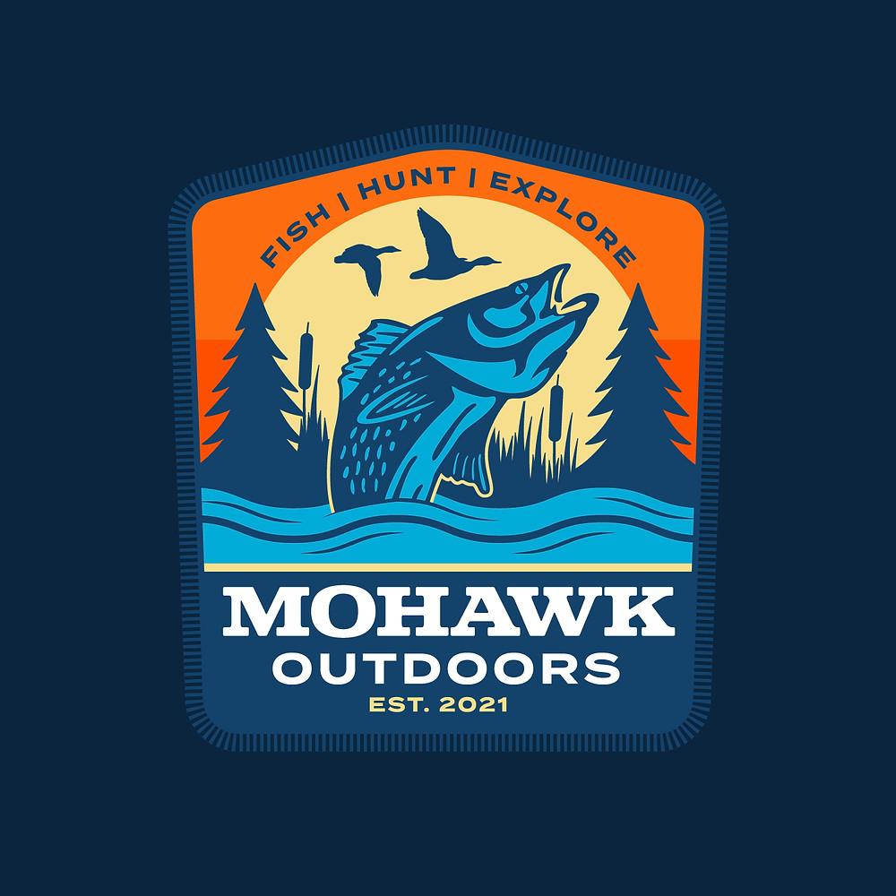 badge design fishing apparel