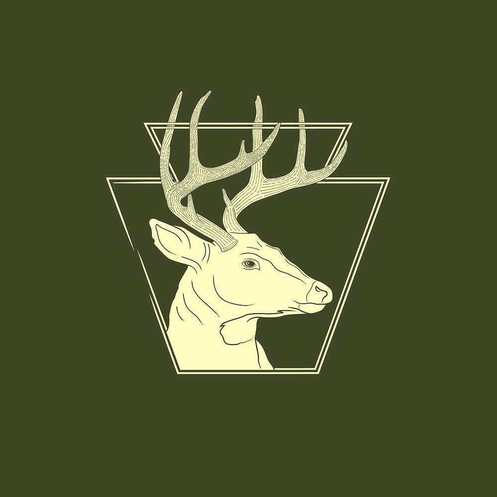 badge design Pennsylvania whitetail