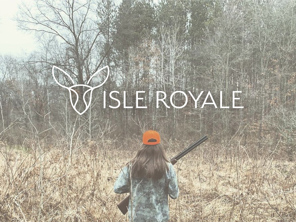 isle royale feminine outdoor logo design