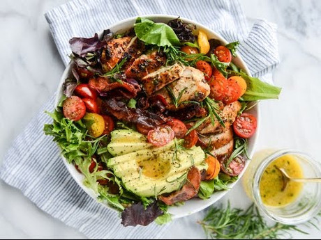Rosemary Chicken Salad with Herb Balsamic Vinegrette