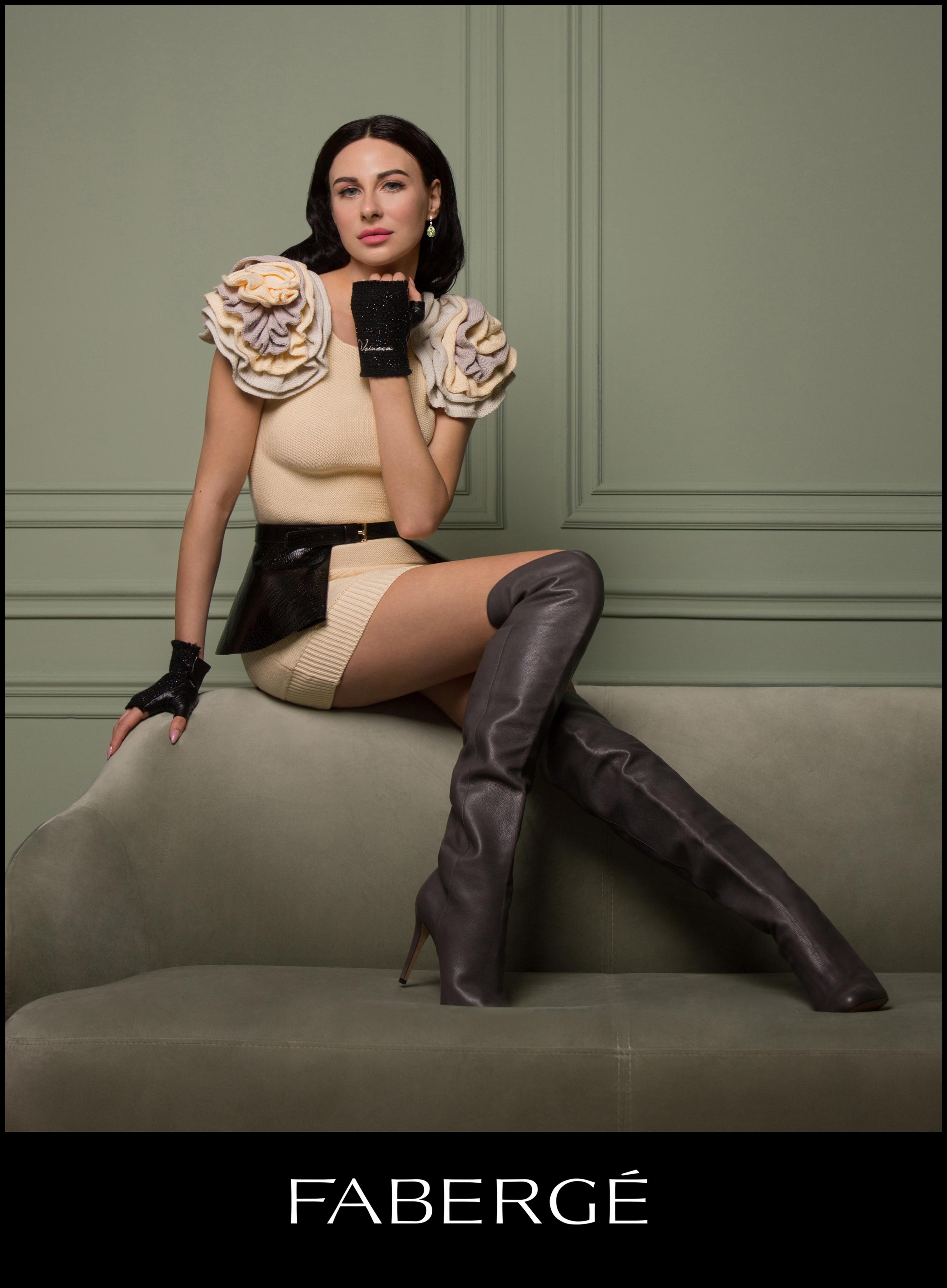 Mariana Voinova Faberge campaign