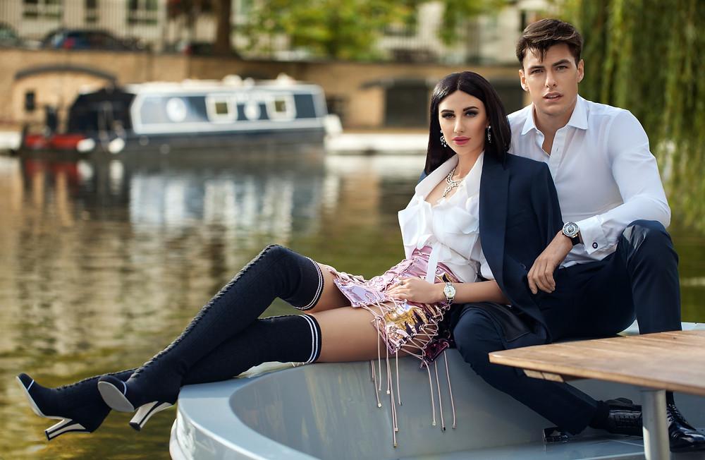 Марьяна Воинова (Mariana Voinova) и Филип Вульф (Filip Wolfe) амбассадор Fabergé