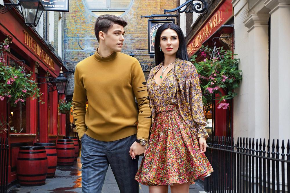 СЛАДКИЙ СЕНТЯБРЬ: Марьяна Воинова (Mariana Voinova) и Филип Вульф (Filip Wolfe) в рекламной кампании Fabergé