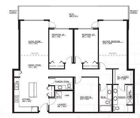 Unit F suite layout