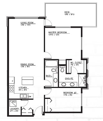 Type A2 Apartment Layout