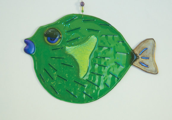 Fused Glass Puffer Fish