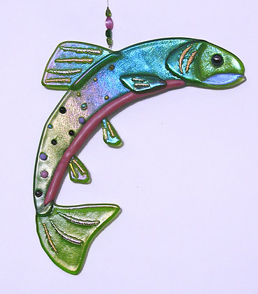 """12 """"  Fused Glass Trout"""