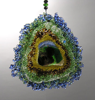 Glass Geode Suncatcher 1