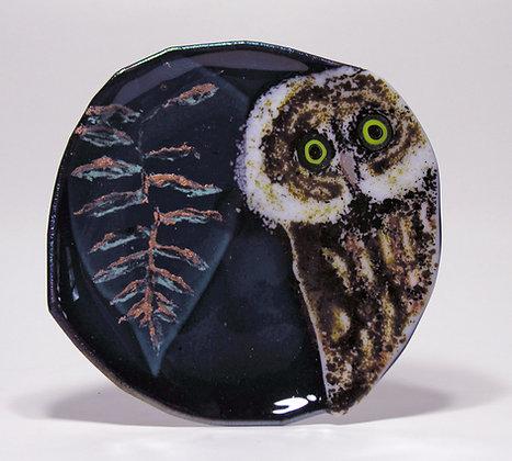"Owl with Fern 9"" Bowl"