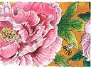 Whimsical Floral Note Card - Lynn Van Dam Cooper