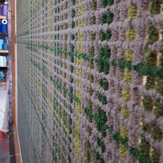 Moderm Mosaic in Greens