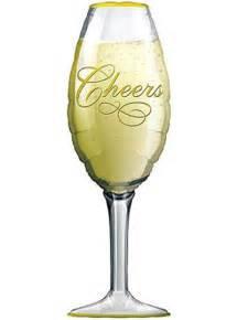 "15"" Champagne Glass Hellium foil balloon"
