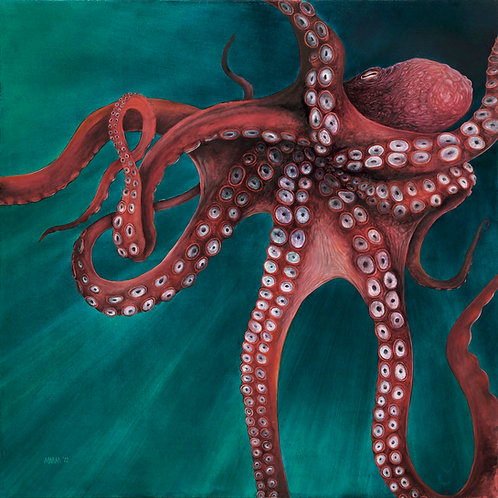 'Giant Pacific Octopus' Fine Art Poster