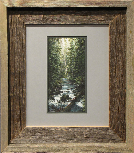 'Crossing the Thelwood' Small Framed Print