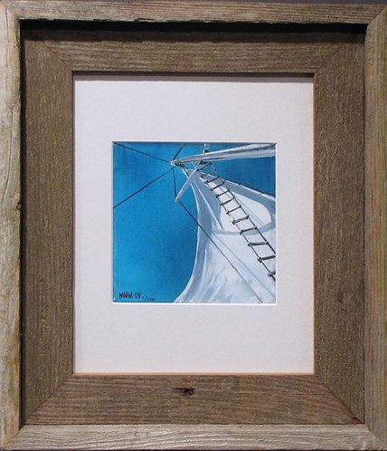 'New Sail' Small Framed Print