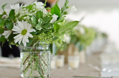 "<img src=""greenweddingflowers.jpeg"" alt=""mason jar flowers, rustic wedding decor, mason jar wedding, summer flowers wedding, casual flowers wedding"">"
