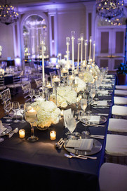 "<img src=""rectangleweddingtable"" alt=""formal wedding, blacktie wedding, navy wedding tablecloth, long wedding centerpieces, blue and white wedding, white flowers wedding"">"