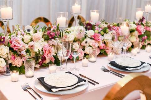 "<img src=""blushweddingtablescape.jpeg"" alt=""blush wedding tablelcoth, black flatware wedding, wedding floral runner, dc wedding, romantic wedding flowers"">"