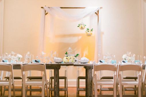 "<img src=""farmtableswedding.jpeg"" alt=""farm table wedding, head table, white folding chairs, white folding chairs wedding, wood folding chairs, museum wedding>"