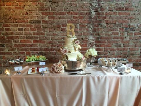"""<img src=""""weddinhdessertdisplay.jpeg"""" alt=""""blush wedding tablecloth, rustic wedding, wedding dessert station, wedding dessert display, custom wedding cake topper"""">"""