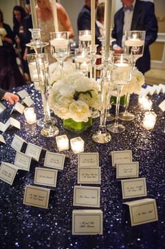 """<img src=""""escortcardtable.jpeg"""" alt=""""navy wedding, blue wedding, escort cards, round escort card display, wedding escort cards, sequin tablecloth"""">"""