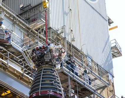 NASA Achieves Rocket Engine Test Milestone Needed for Moon Missions