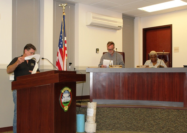 Public Works Director Eric Morris discusses change orders