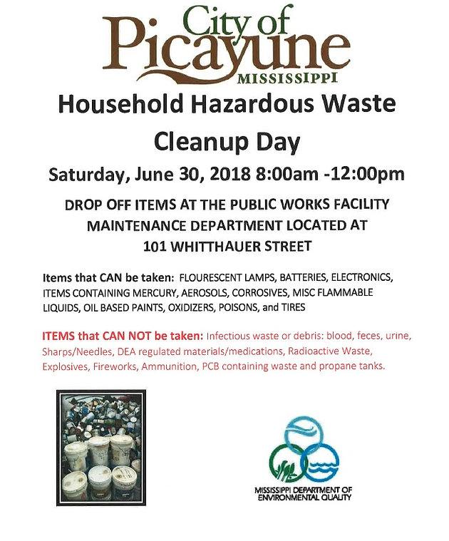 Hazardous waste disposal day is Saturday in Picayune | Swap