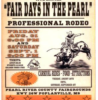 Pearl River County Fair & Livestock Show and PCA Rodeo right around the corner