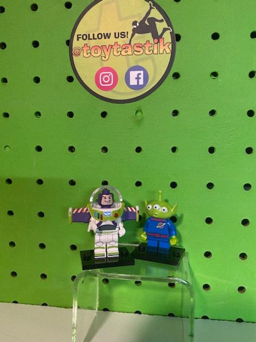 Buzz Lightyear & Alien Disney LEGO Minifigures