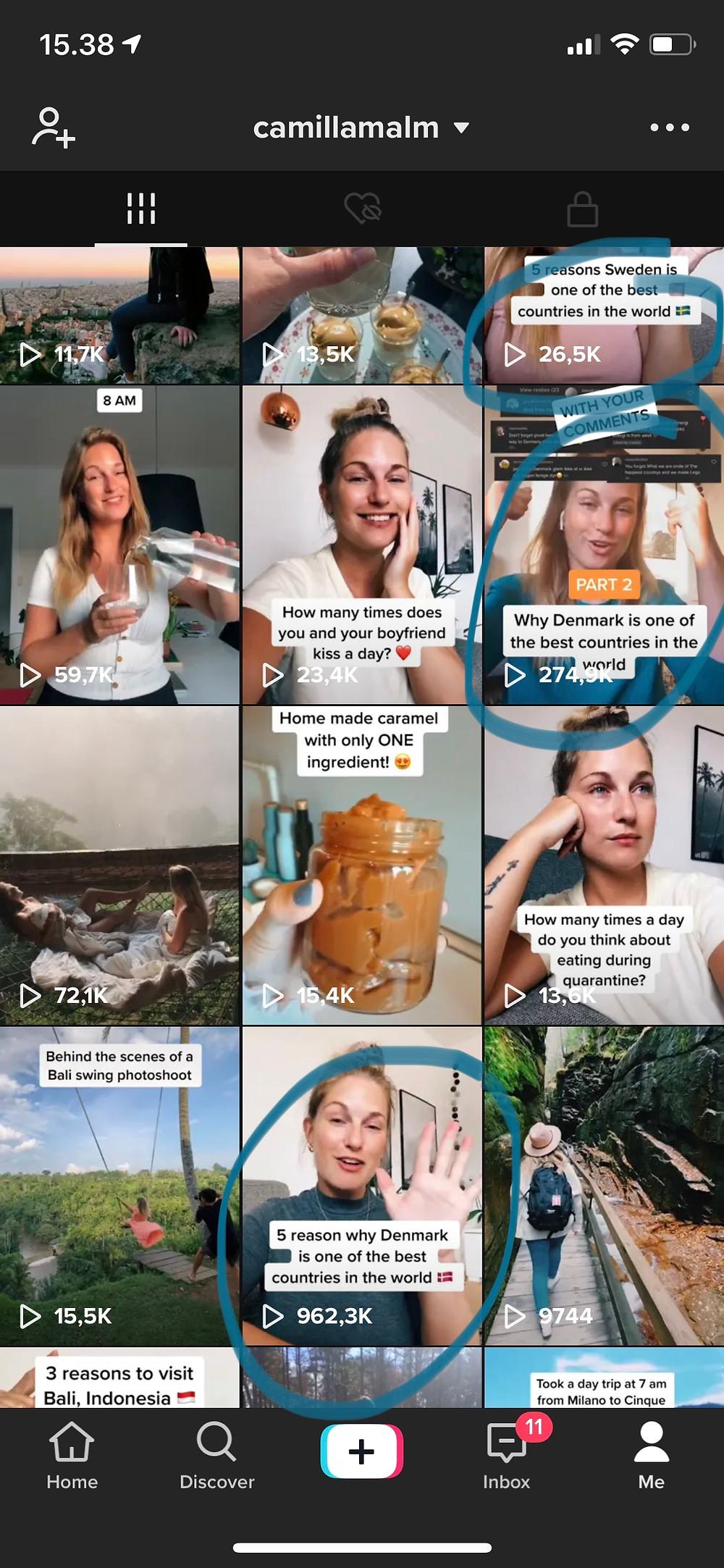 viral videos TikTok camillamalm,