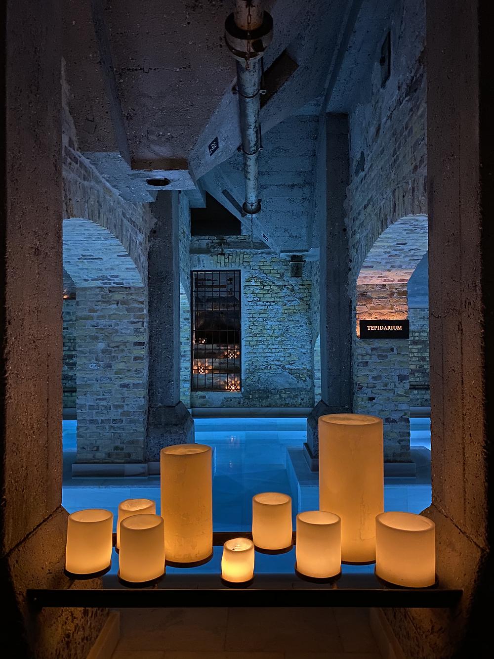 aire spa copenhagen candles pool