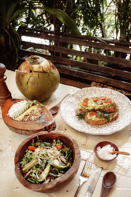 strawberry fields Bali food on table restaurant brunch