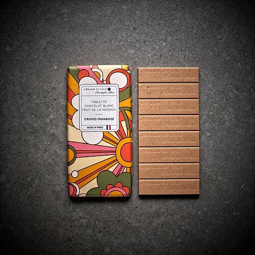 Chocolat blanc Fruit de la Passion - Crispies Framboise