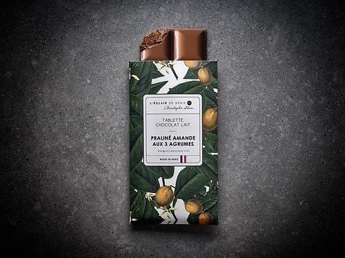 Chocolat lait Praliné Amande aux 3 Agrumes