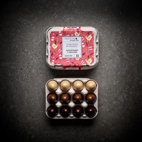 Boîtes de 12 mini oeufs Assortiment