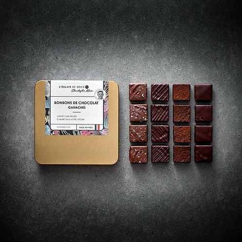 16 Bonbons de chocolat Ganaches et son pochon gratos