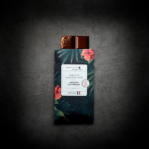 Chocolat noir Noisette du Piémont sans sucres ajoutés